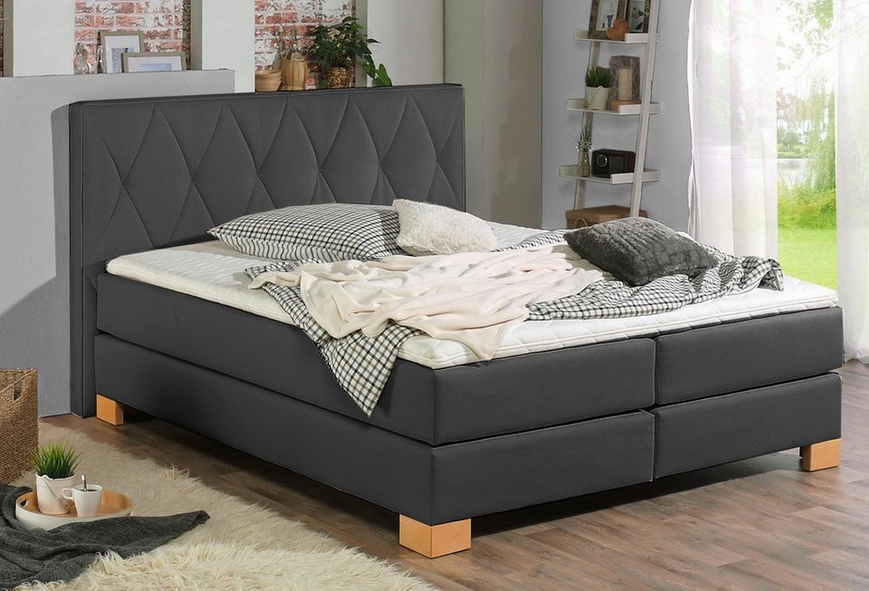 home affaire boxspringbett merino incl kaltschaumtopper 5 breiten 2 h rtegrade 3. Black Bedroom Furniture Sets. Home Design Ideas