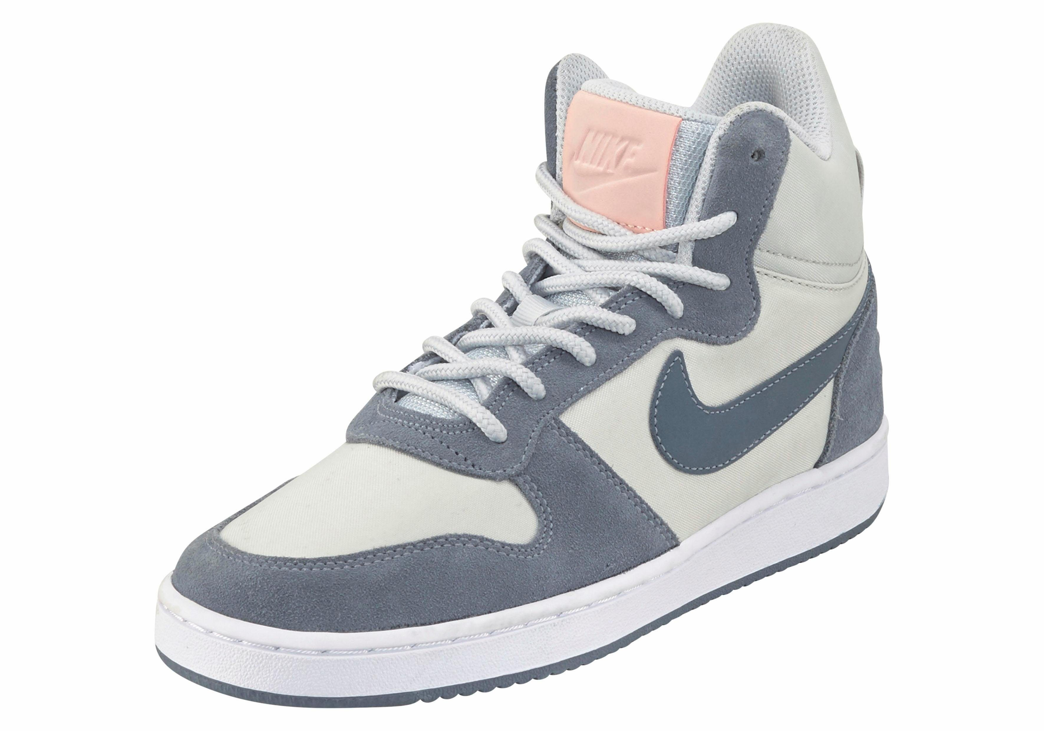 Nike Sportswear »Court Borough Mid Prem W« Sneaker, grau, graublau-rosa