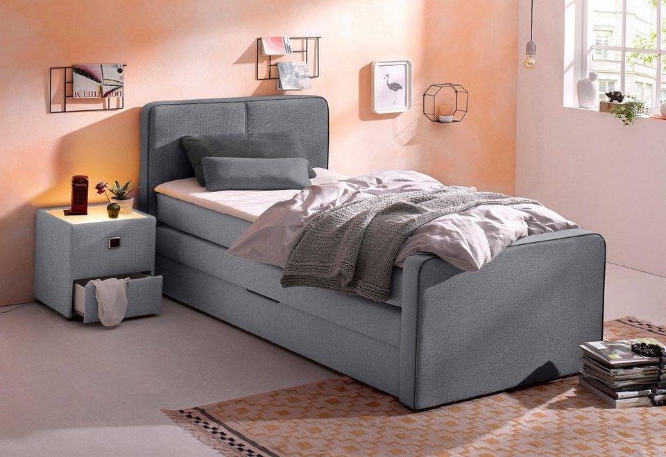 boxspringbett inkl topper in diversen ausf hrungen online kaufen otto. Black Bedroom Furniture Sets. Home Design Ideas