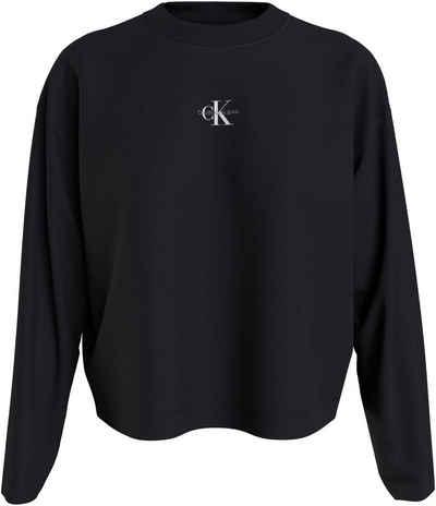 Calvin Klein Jeans Langarmshirt »MICRO MONOGRAM LOOSE LS TEE« mit CK Micro Logo-Monogramm & Schriftzug