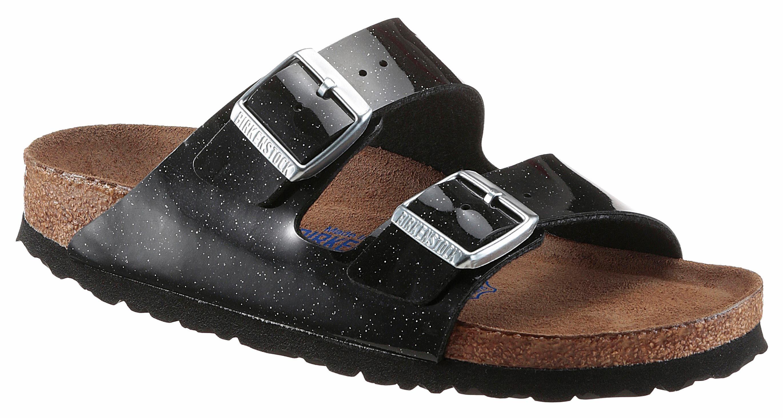 Birkenstock ARIZONA SFB Pantolette, in glitzernder Optik und schmaler Schuhweite online kaufen  schwarz