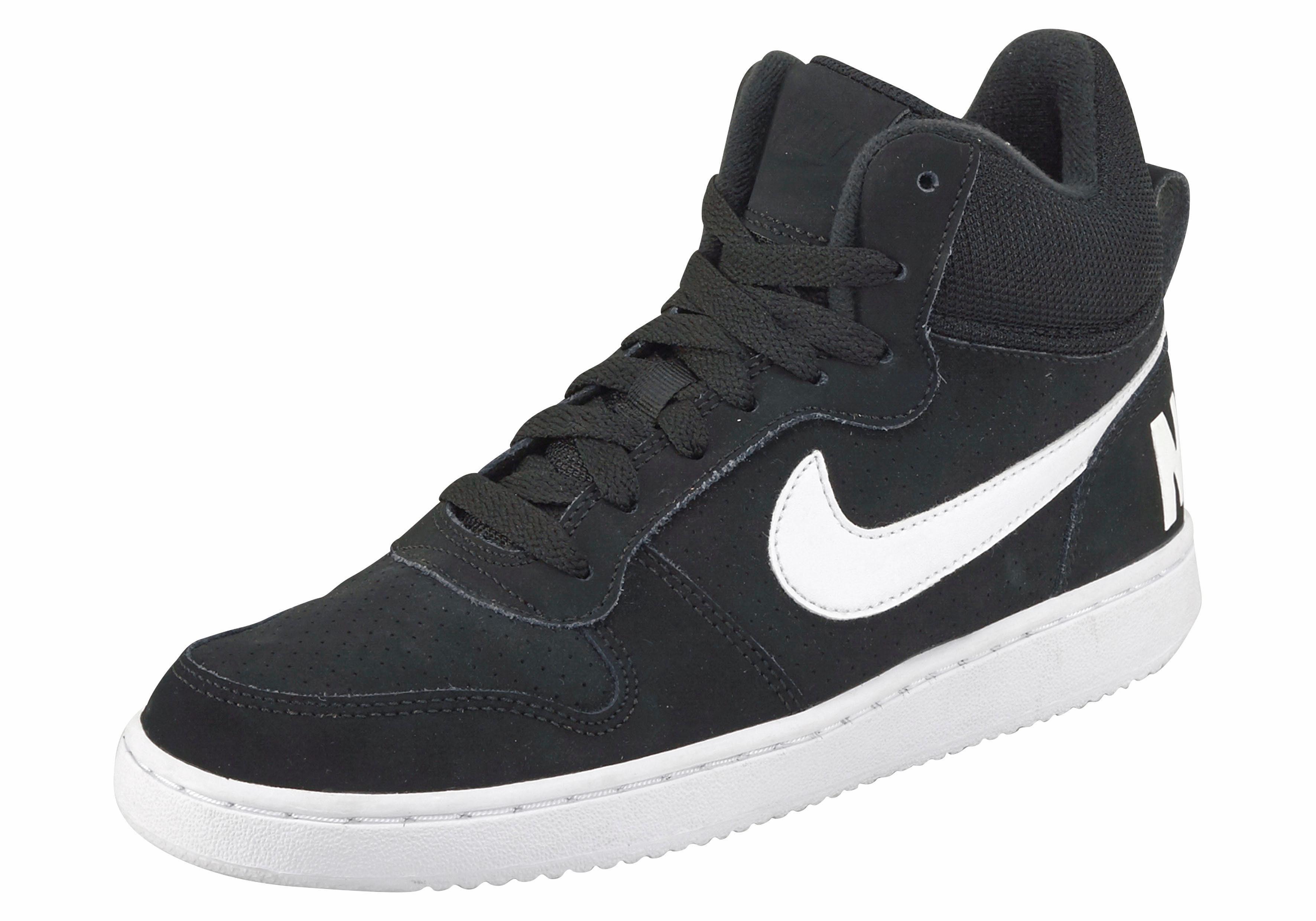 Nike Sportswear Court Borough Mid Wmns Sneaker  schwarz-weiß