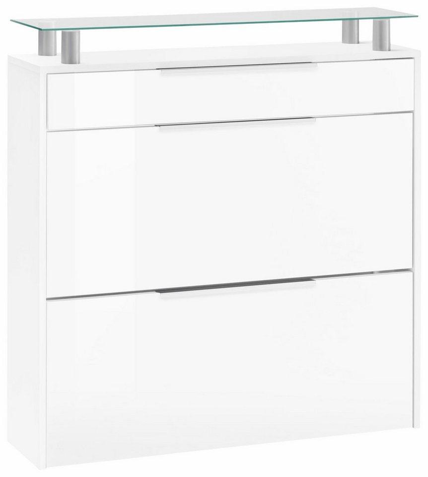 Borchardt Möbel Schuhschrank »Oliva«, Breite 89 cm, mit Glasablage ...
