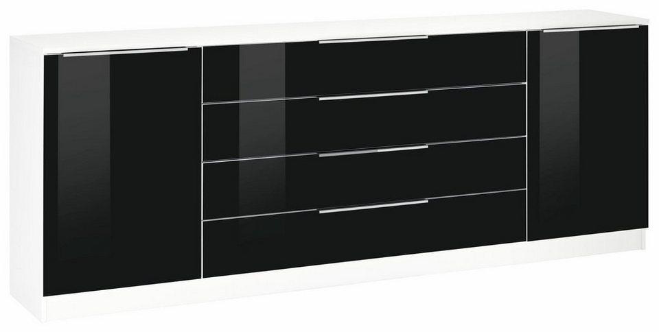 Kommode schwarz weiß  Borchardt Möbel Kommode »Oliva«, Breite 200 cm, mit 4 Schubkästen ...