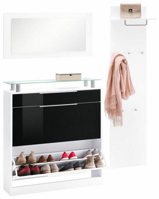 Garderoben Sets - borchardt Möbel Garderoben Set »Olivia«, (Set, 3 tlg), (3 tlg), stehender Schuhschrank  - Onlineshop OTTO