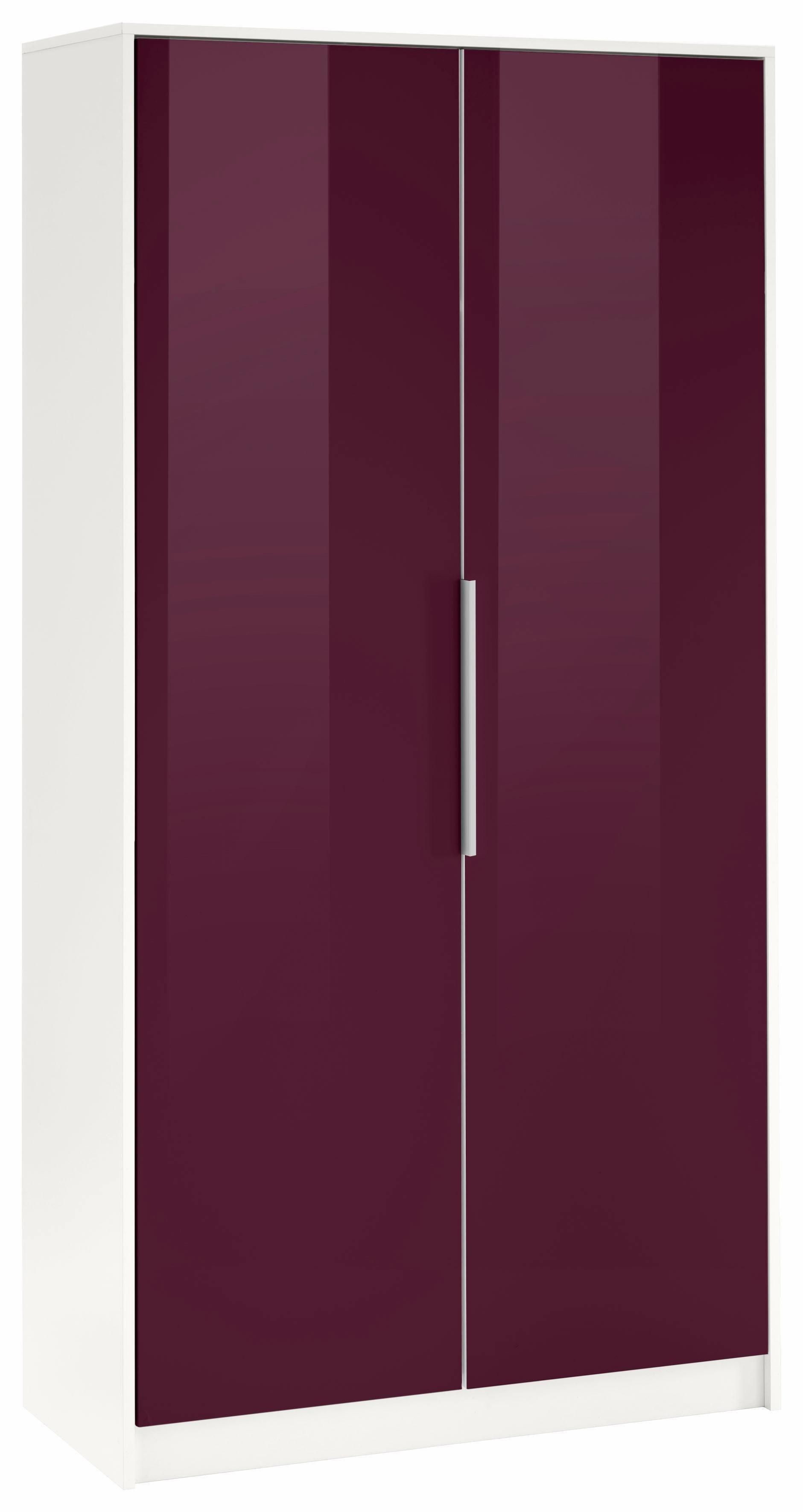 Borchardt Möbel Garderobenschrank »Oliva« mit Metallgriffen | Flur & Diele > Garderoben > Garderobenschränke | Weiß - Schwarz - Glanz | Melamin | borchardt Möbel