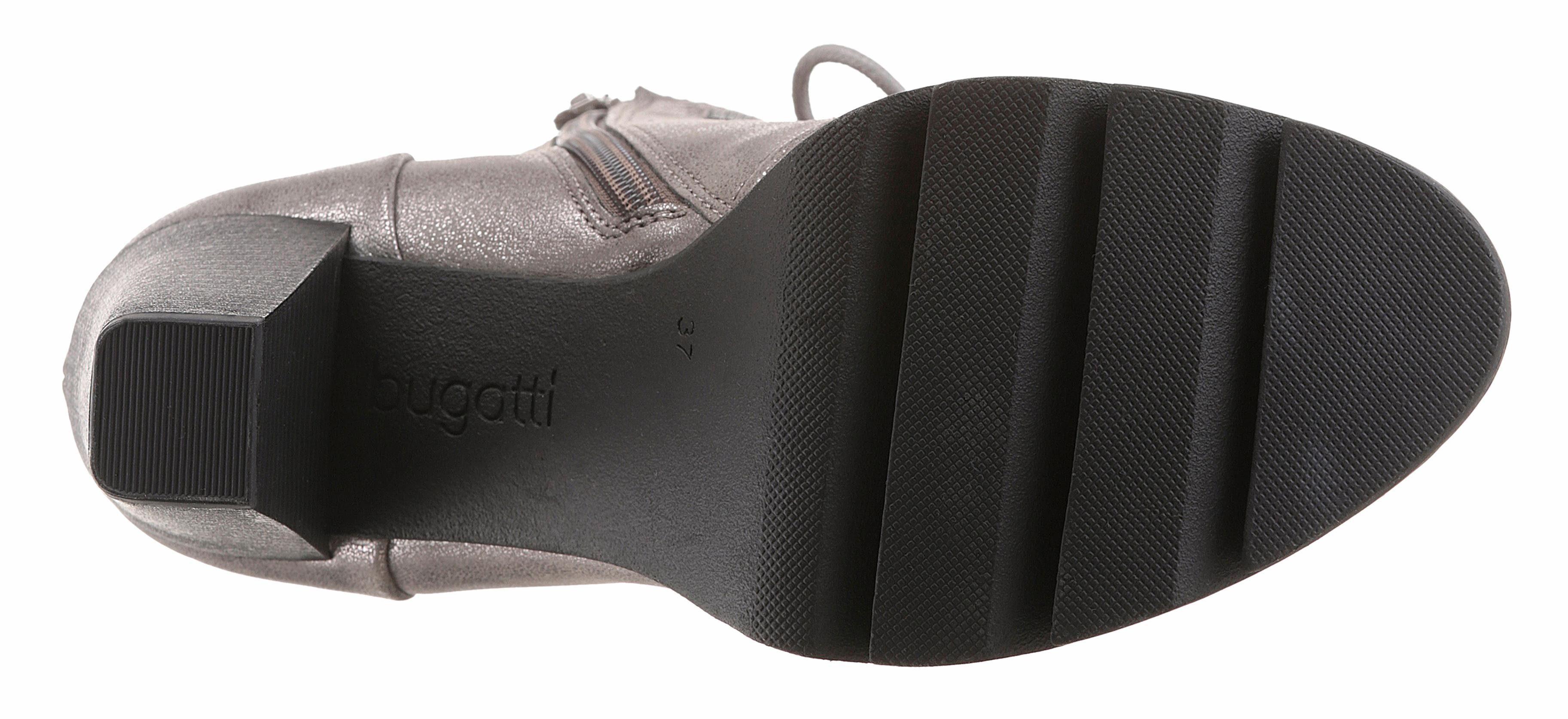 Bugatti Schnürstiefelette, mit verstellbarer Schnalle online kaufen  metallicgrau