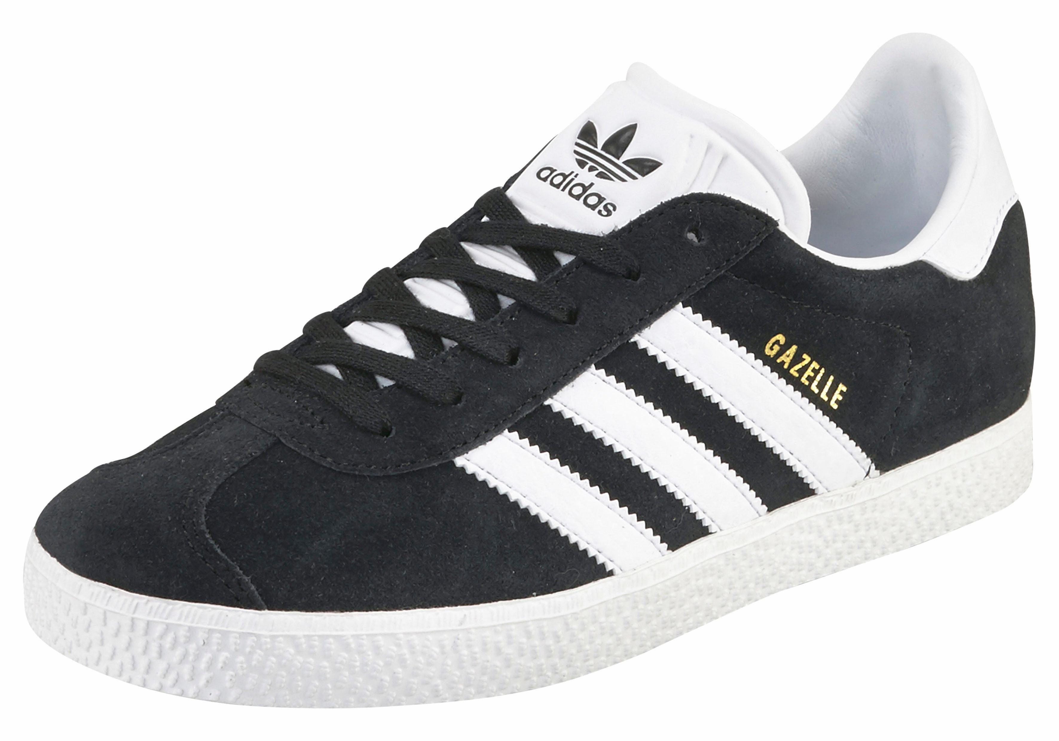 adidas Originals Gazelle Junior Unisex Sneaker  schwarz-weiß