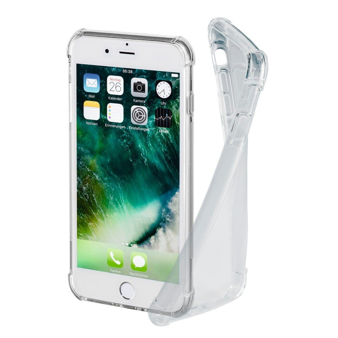 Hama Cover Crystal Pro für Apple iPhone 7 Plus/8 Plus, Transparent