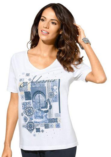Classic Inspirationen Shirt mit schimmernden Metallplättchen