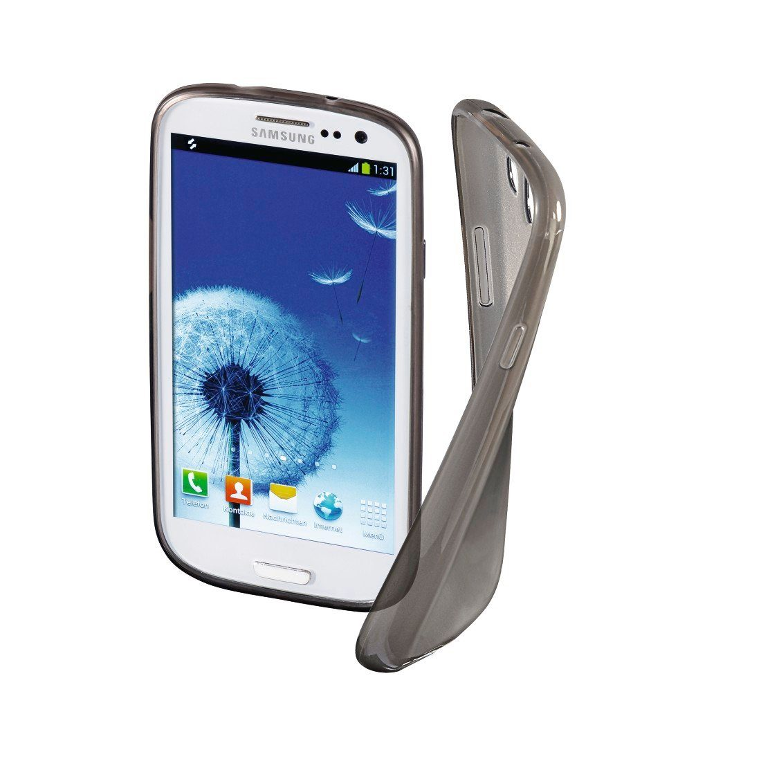 Hama Cover Crystal für Samsung Galaxy S III (Neo), Grau