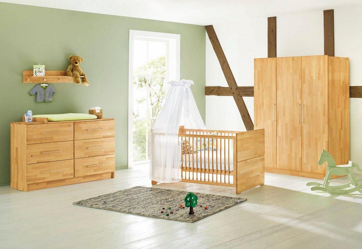 Pinolino Babyzimmer Set Natura extrabreit groß (3-tlg.)    04035769041946