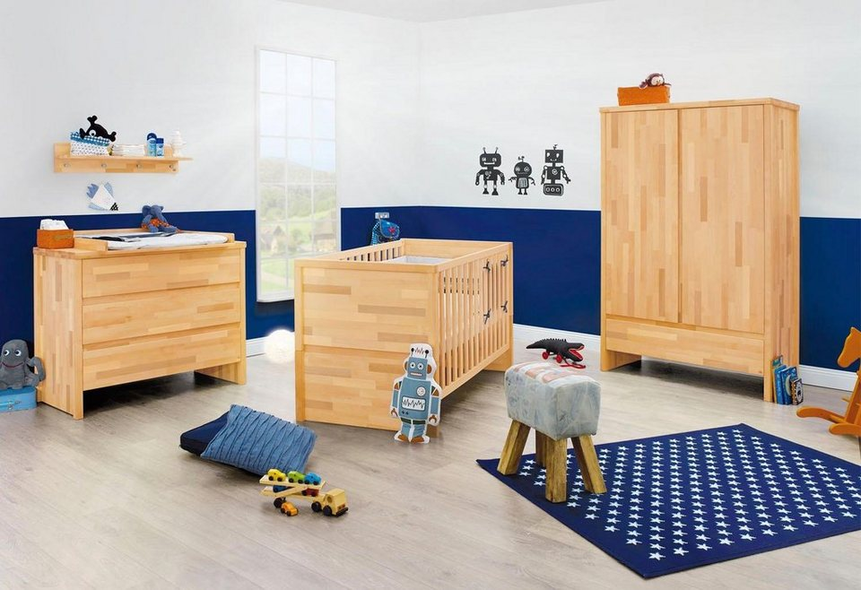 pinolino babyzimmer set »fagus« breit (3-tlg.) | otto
