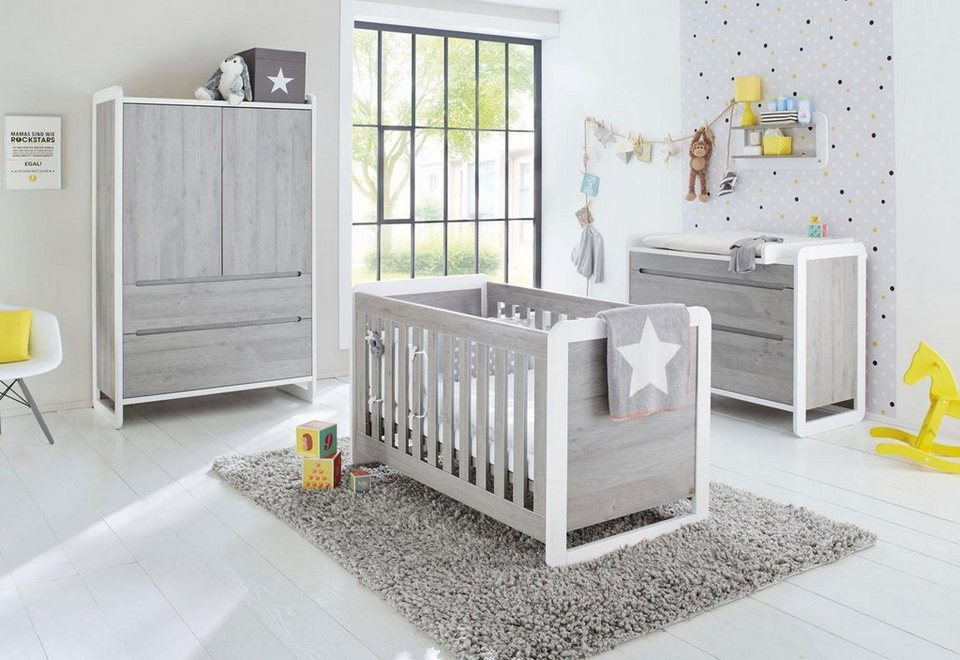 pinolino babyzimmer set curve breit 3 tlg otto. Black Bedroom Furniture Sets. Home Design Ideas
