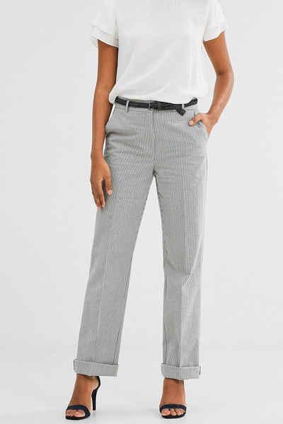 Ruhland Angebote ESPRIT CASUAL Weite Hose aus Crash Baumwolle