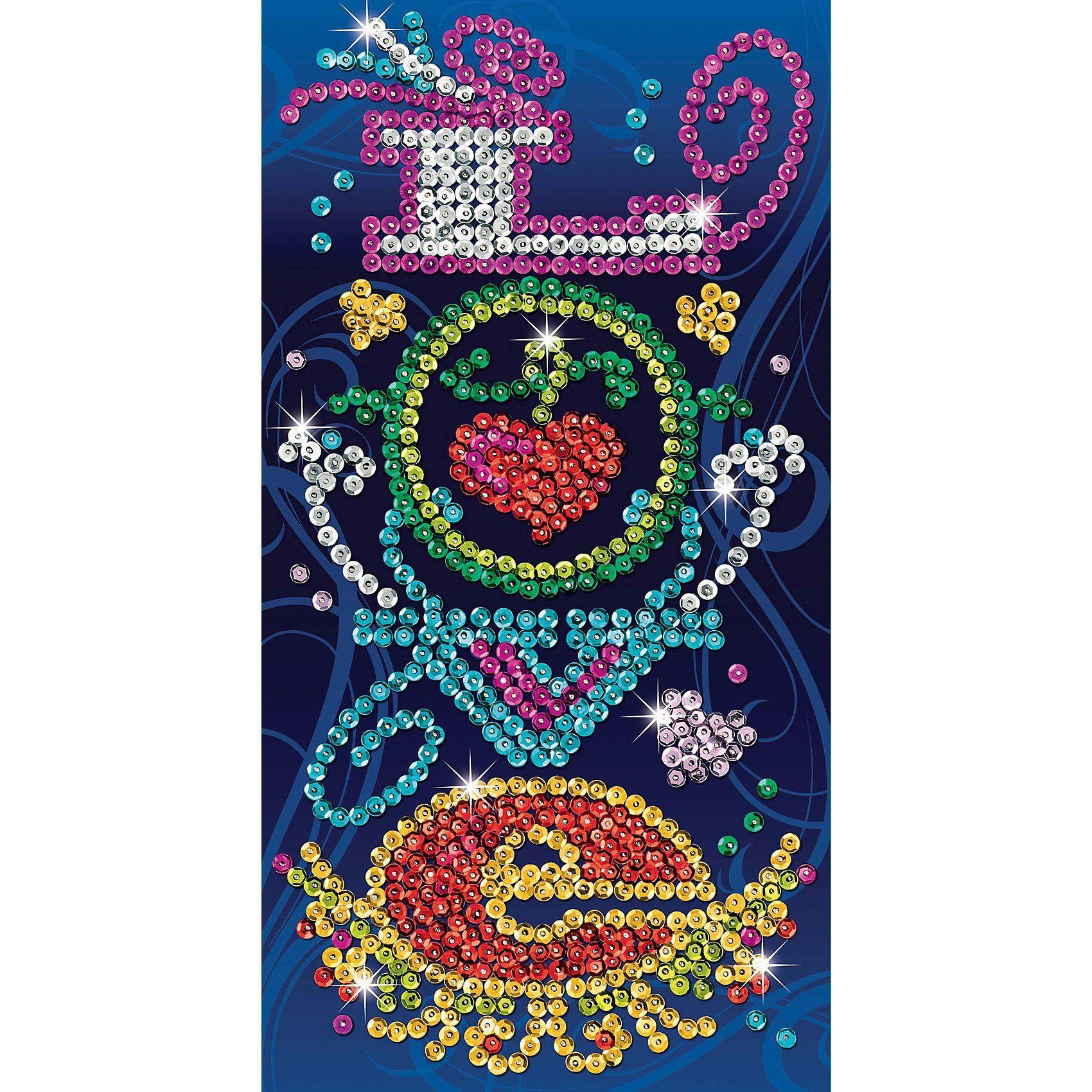 MAMMUT Spiel und Geschenk Sequin Art Picture Art - Love