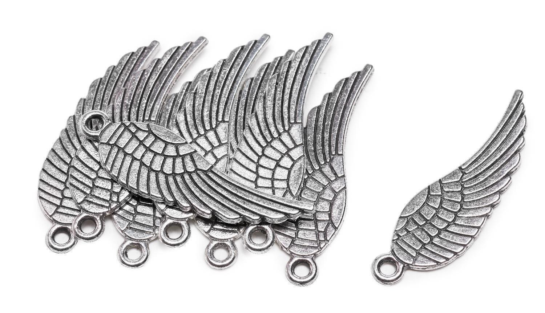 Metall-Anhänger ´´Engelsflügel´´ 9 Stück | Dekoration > Figuren und Skulpturen > Engel | Metall