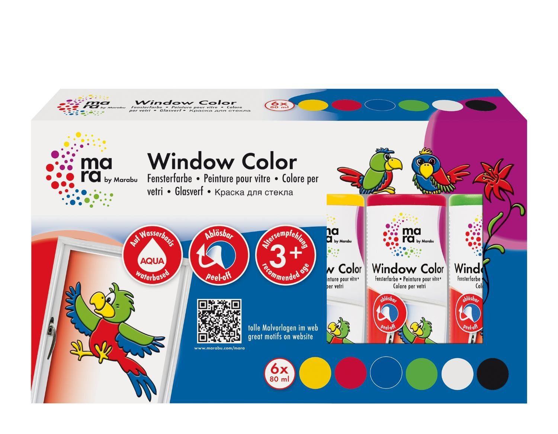 "Marabu Fensterfarben-Set ""mara Basic"" 6er-Set"