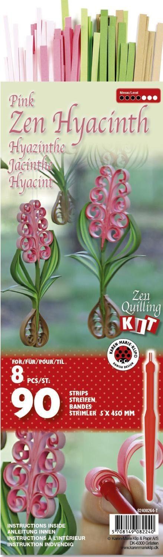 "Karen Marie Klip Zen-Quilling-Set ""Zen Hyacinth pink"" 90 Streifen"