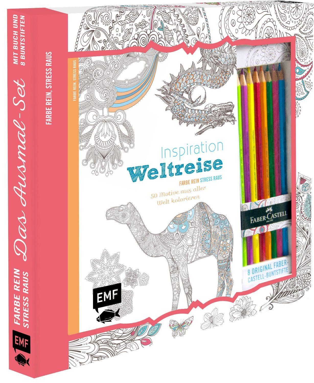 "EMF Ausmal-Set ""Inspiration Weltreise"" inkl. Buntstifte"