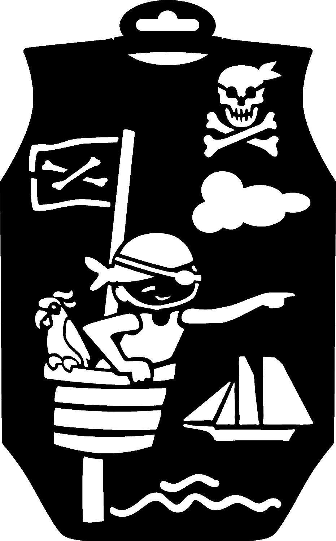 "Schablone Strampler ""Pirat"" 29x18cm"