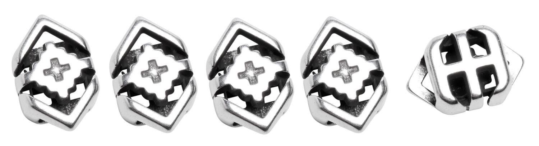 """Schiebe-Perlen """"Raute mit Kreuz"""" 5 Stück"""