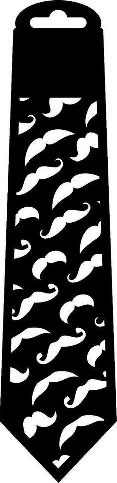 """Schablone """"Krawatte Schnurrbart"""" 287x70mm kaufen"""