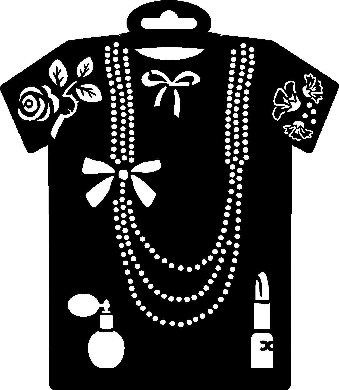 "PRONTY Textil-Schablone ""T-Shirt Halskette"" 236x205mm"