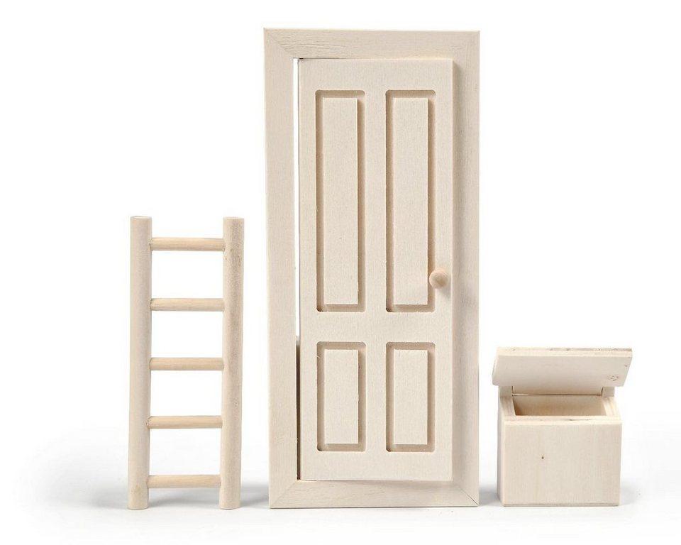 """Deko-Miniaturmöbel """"Elfentür"""" 3-tlg. online kaufen"""