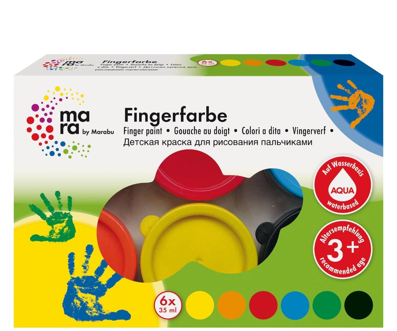 "Marabu Fingerfarben-Set ""mara Basic"" 6er-Set"