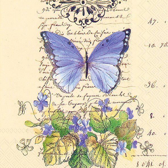 "Serviette ""Butterfly Romance"""