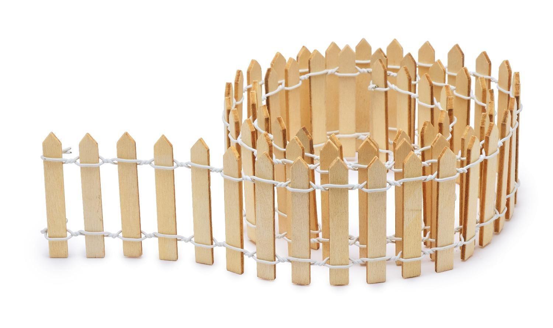 VBS Miniatur-Deko ´´Zaun´´ 90 cm breit | Garten > Zäune und Sichtschutz | Blau | VBS