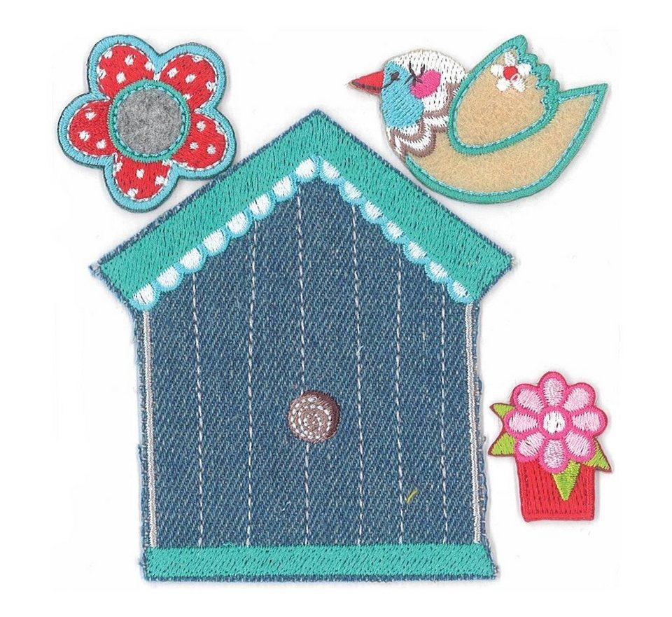 """Love my House Bügelapplikationen """"Vogelhaus"""" 4-tlg. online kaufen"""