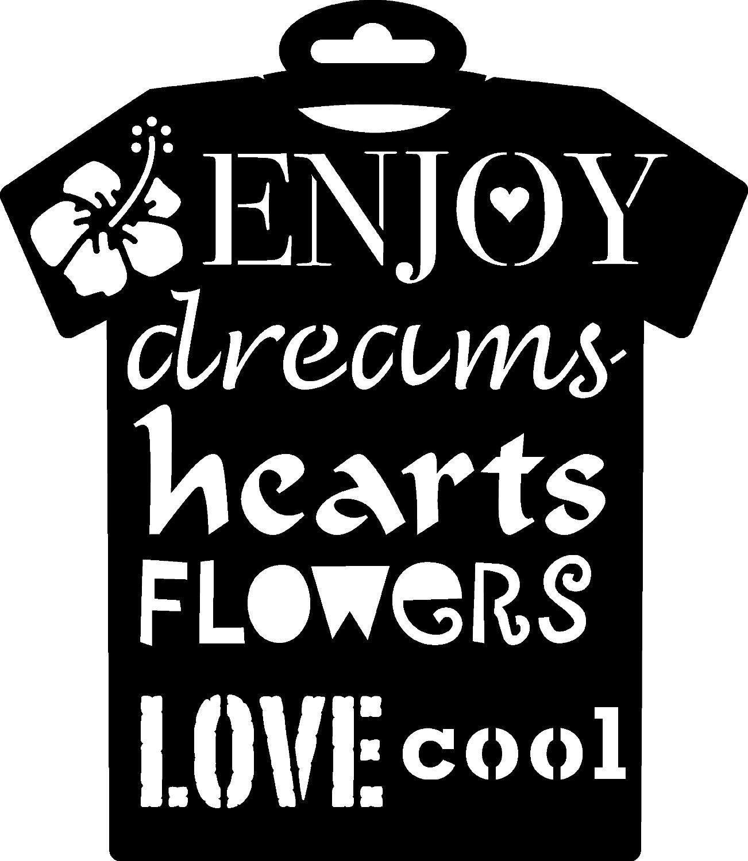 "PRONTY Textil-Schablone ""T-Shirt Enjoy"" 236x205mm"