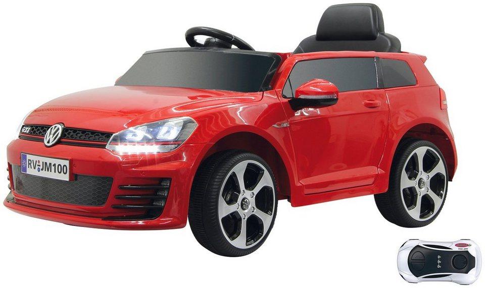 jamara kids elektroauto ride on vw golf gti vii rot. Black Bedroom Furniture Sets. Home Design Ideas