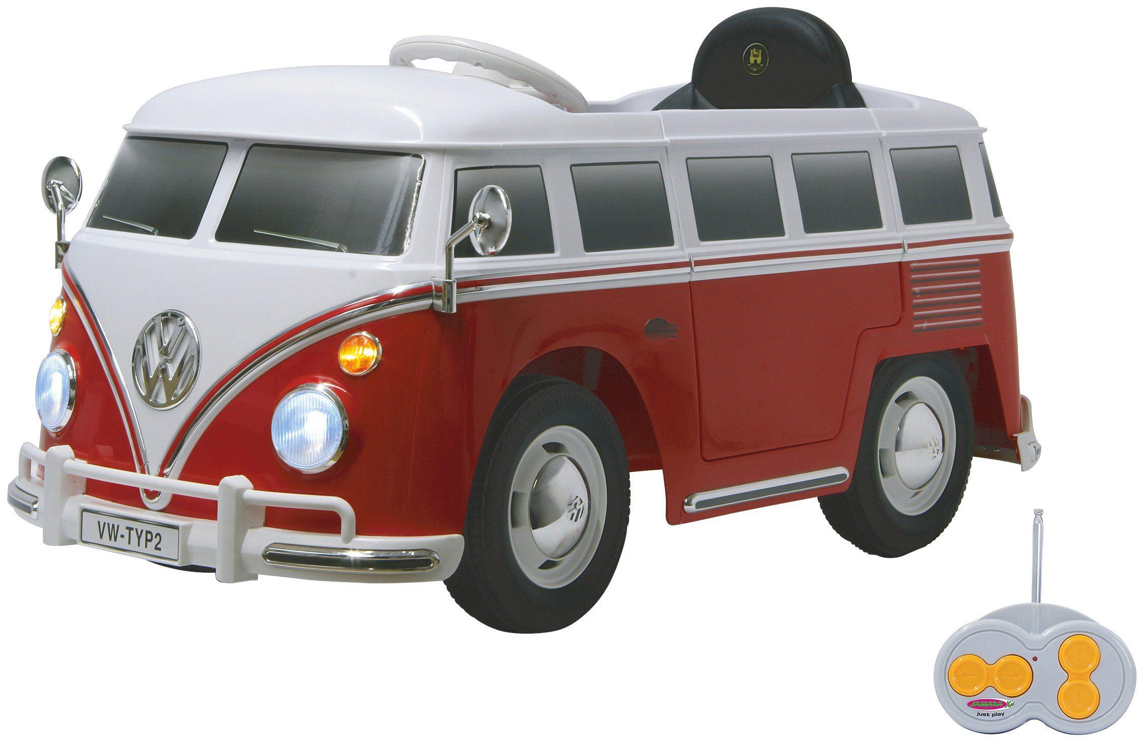 JAMARA KIDS Elektroauto »Ride-on VW Bus T1«, rot/weiß, inkl. Fernsteuerung