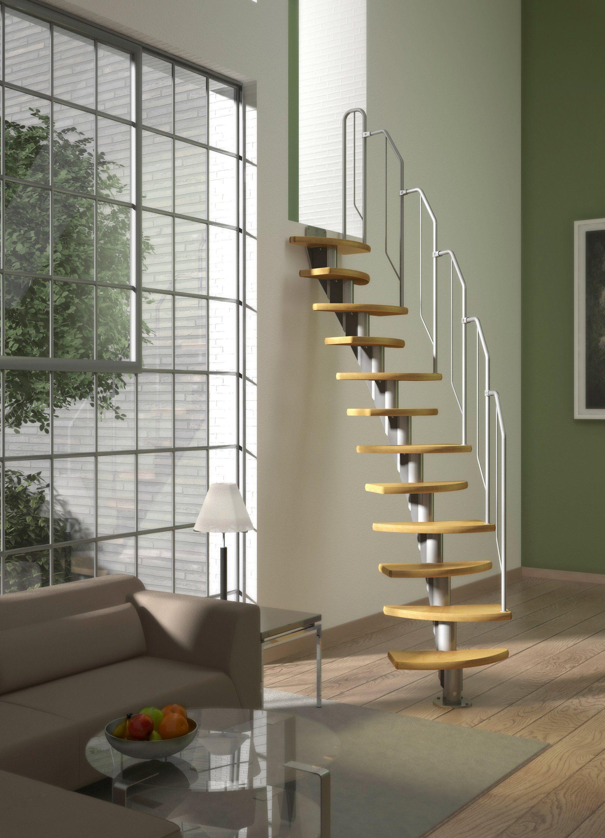 DOLLE Systemtreppe »Berlin«, Metallgeländer und -handlauf, Birke, BxH: 64x247 cm