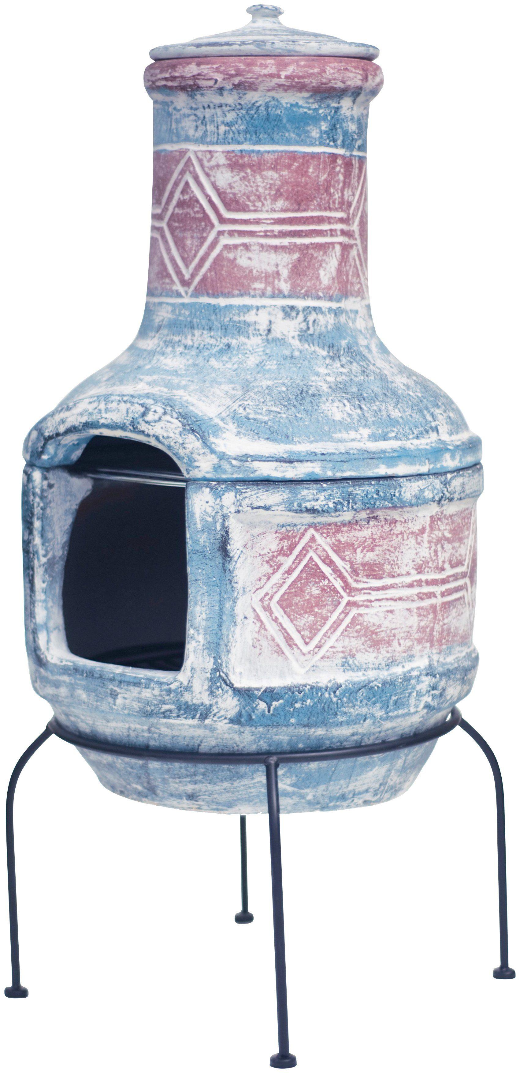 BUSCHBECK Gartenkamin »Mexiko-Grill-Kamin Geo design«, B/T/H: 40/40/56 cm