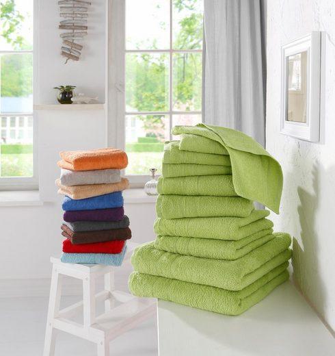 my home Handtuch Set »Inga«, mit feiner Bordüre (10 tlg)