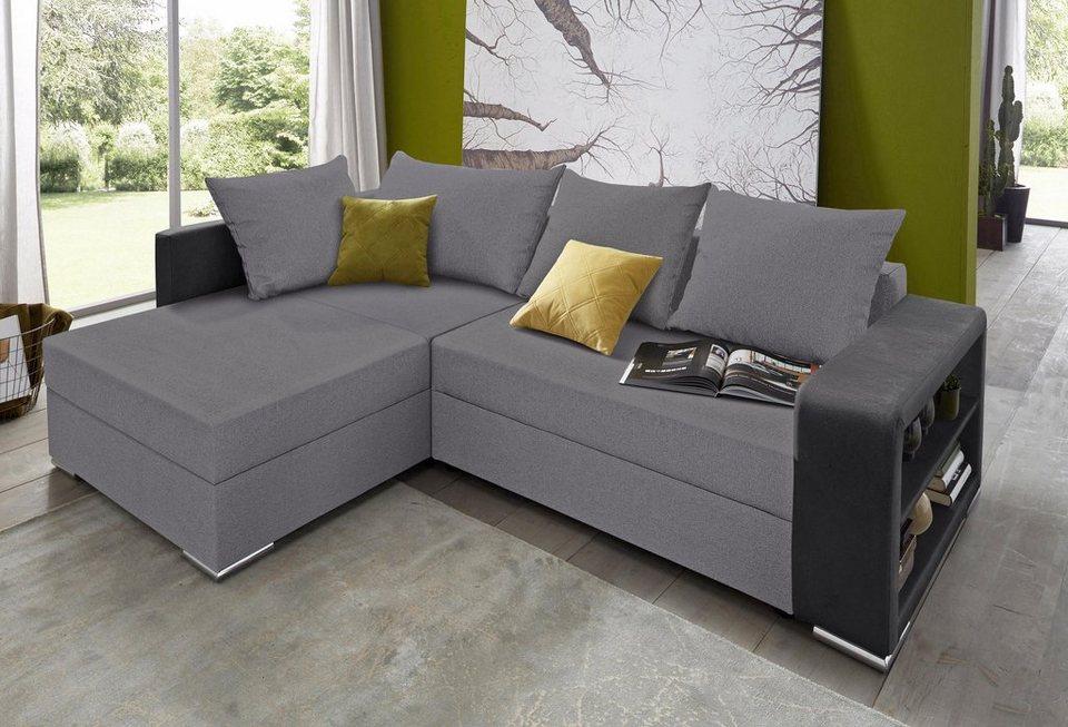 collection ab polsterecke mit xxl ottomane und. Black Bedroom Furniture Sets. Home Design Ideas
