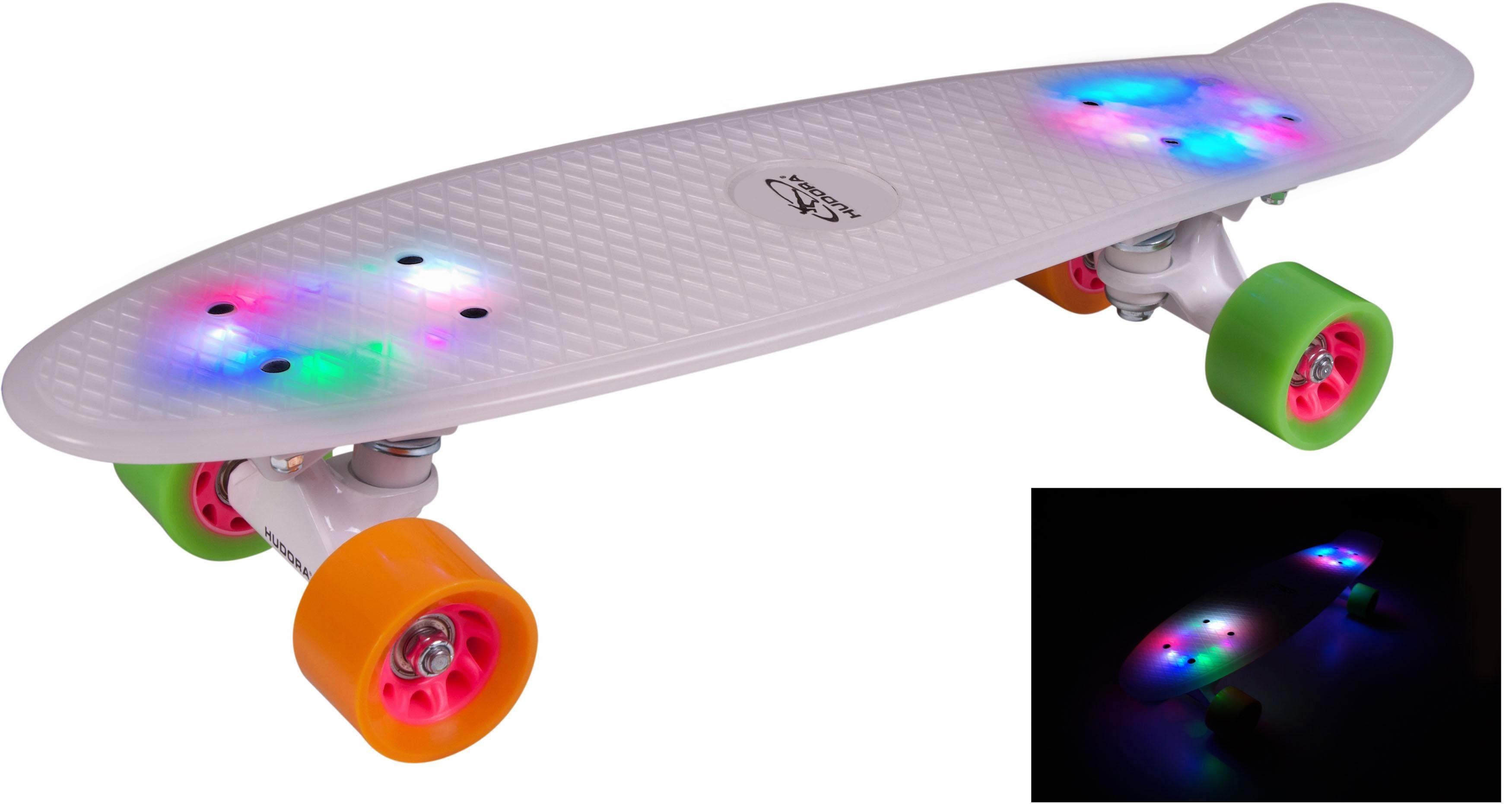 Hudora Skateboard »Rainglow LED«