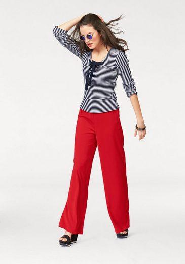 Aniston Langarmshirt, im Ringel-Dessin