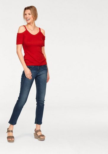 "Cheer V-Shirt, mit ""Cold Shoulder"""