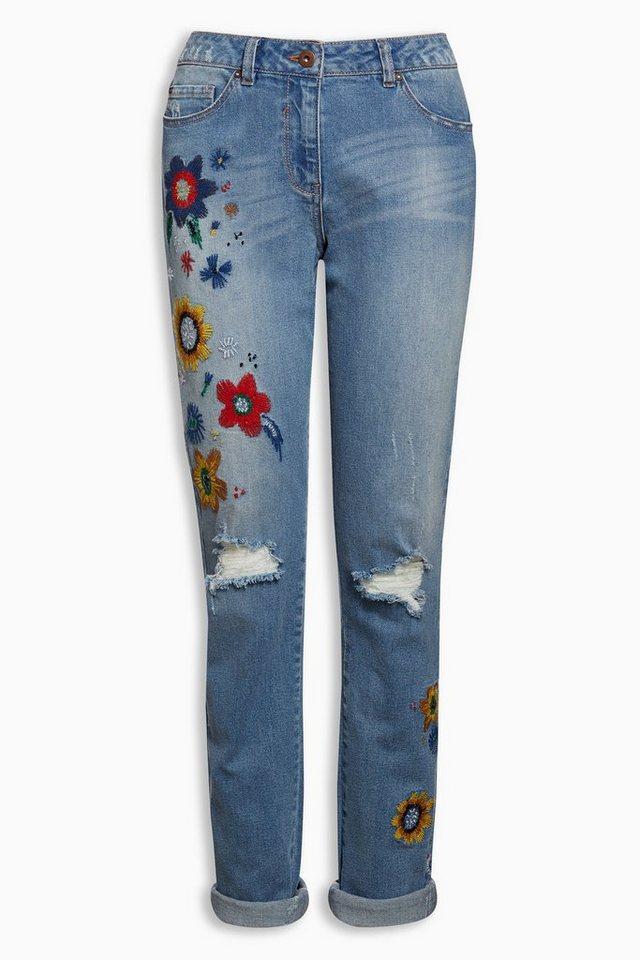 next jeans mit blumenstickerei online kaufen otto. Black Bedroom Furniture Sets. Home Design Ideas