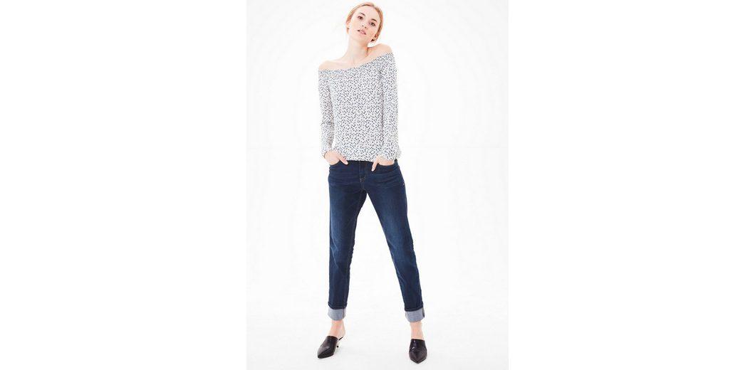 Outlet Rabatt Verkauf s.Oliver RED LABEL Smart Straight: Jeans mit Knöpfen Verkauf Besten Preise Verkauf Neueste jz7hjZZ6S