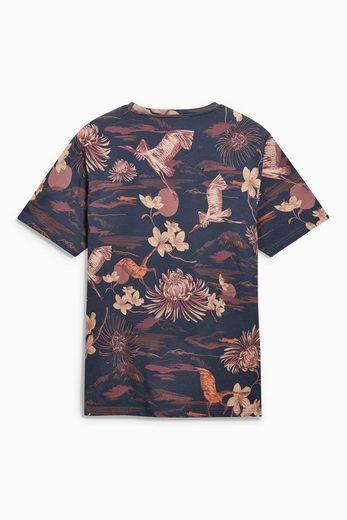 Next T-Shirt mit Vogeldruck