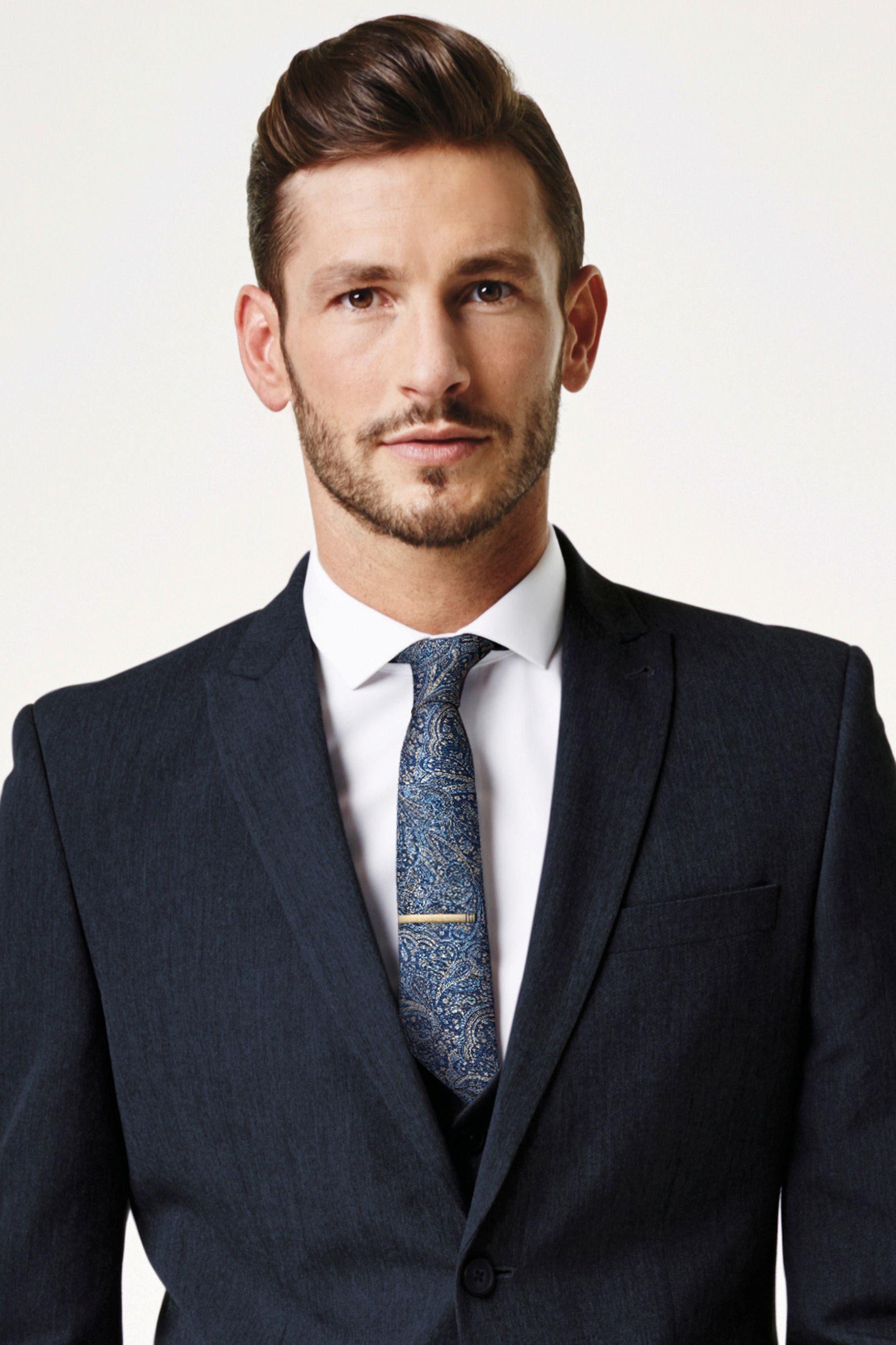 Next Krawatte mit Paisley-Muster und Krawattenklammer 2 teilig