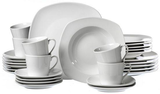 Ritzenhoff & Breker Kombiservice »PRIMO« (30-tlg), Porzellan, Mikrowellengeeignet