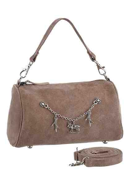 KABE Leder-Accessoires Trachtentasche mit dekorativem Charivari