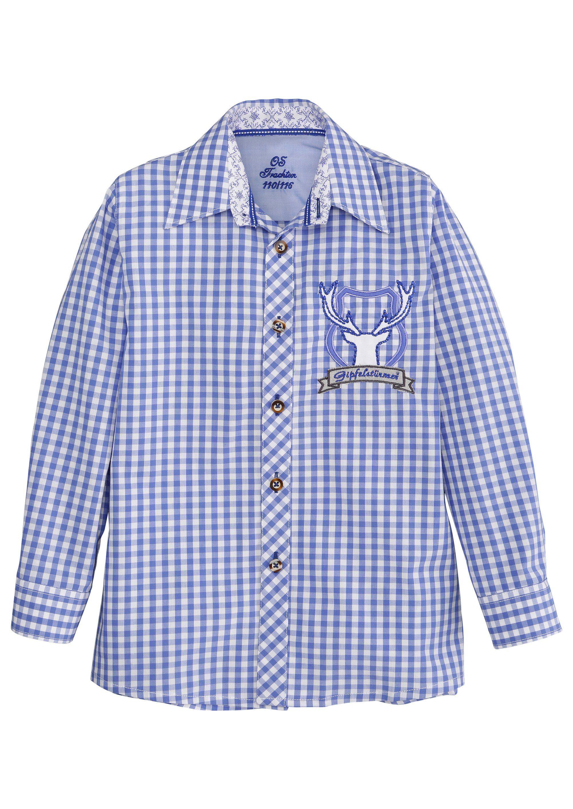 Trachtenhemd mit Hirschstickerei
